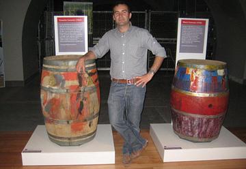 Julio Viola with painted barrels