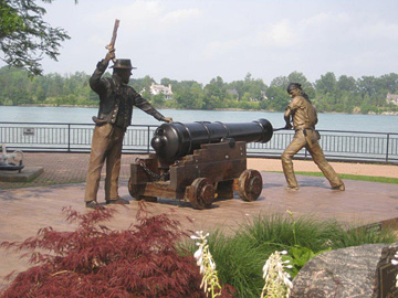 Sculpture commemorating the Battle of Lake Erie in Amherstburg