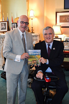 The Lieutenant Governor of Ontario accepts a copy of Tony's latest book