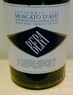 Delicious aperitif: Bera Moscato d'Asti 2011