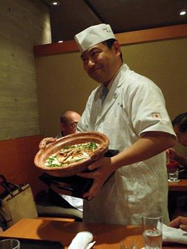 Kimio's rice and fish flake dish
