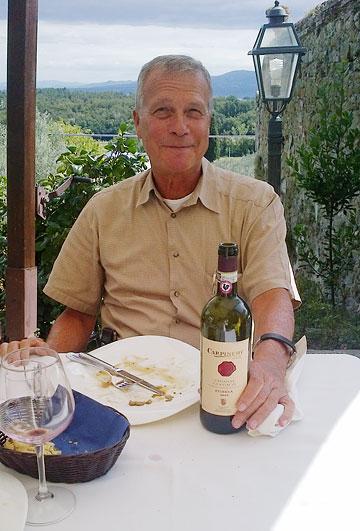 Carpineto's Antonio Zaccheo at lunch