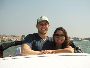 Guy and Sasha in Venice