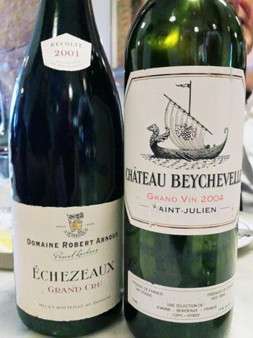 Domaine Robert Arnoux Échezeaux 2001 and Château Beychevelle 2004
