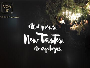 VQA poster: New views. New tastes. No apologies.