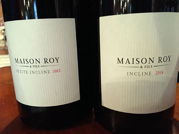 Maison Roy Petite Incline Pinot Noir 2013, Maison Roy Incline 2014