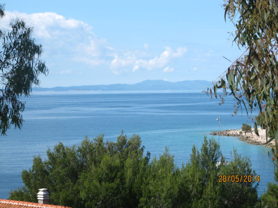 The view when I was writing Chapter 1, from the Island of Braç, Croatia