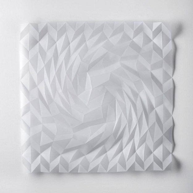 Experiment in Drawn and Folded Form Number 4, 48 x 48 x 2cm, 2015