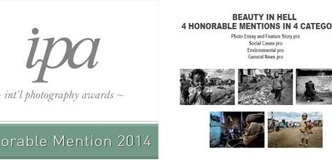 ipa, awards, honorable mention, tony corocher, 2014