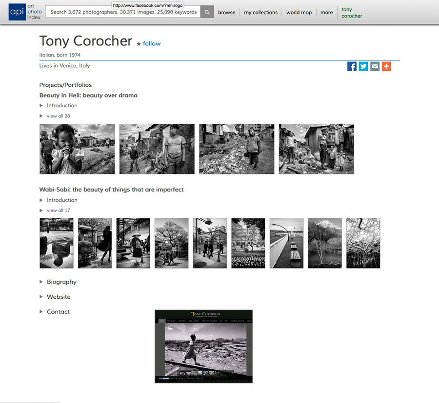 Art Photo Index - Tony Corocher