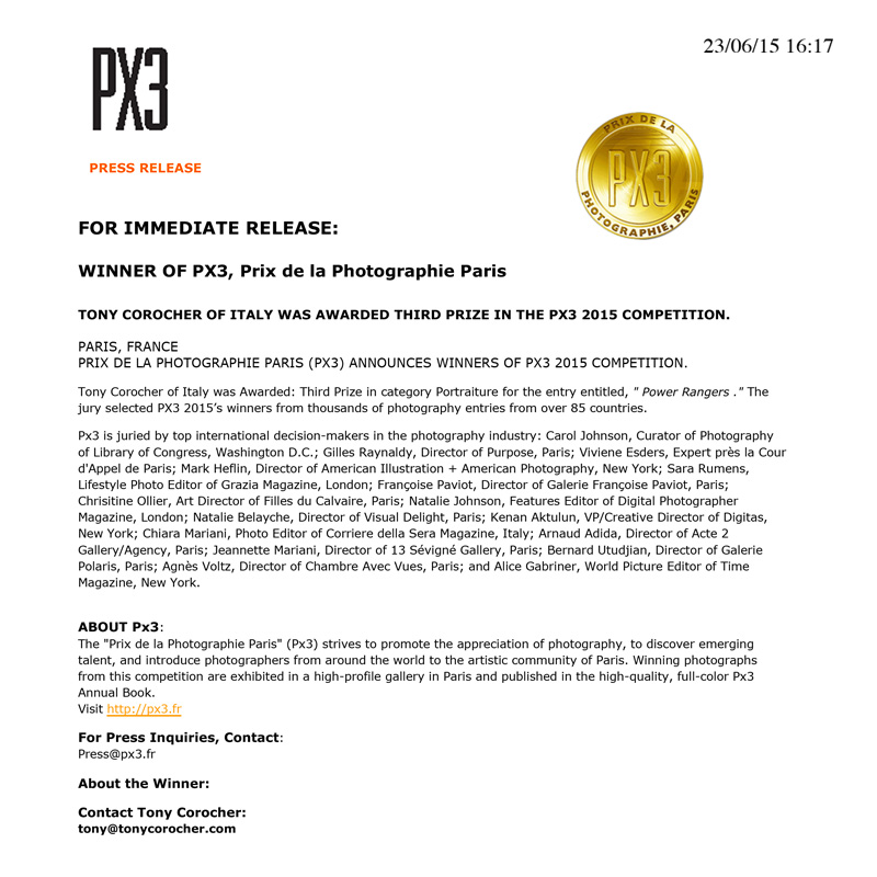 winner's services- PRESS RELEASE
