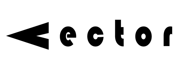 "The word ""Vector"" that looks like an arrow."