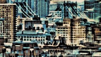 NYC Skyline with Manhattan Bridge