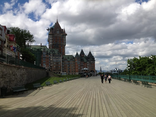 Quebec City wooden walkway