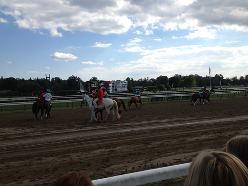 Race Horses at Saratoga Race Track