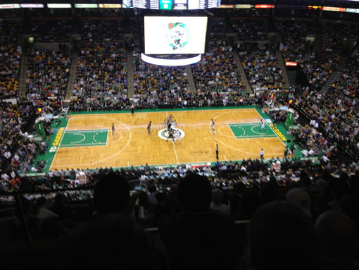 TD Garden Celtics vs Spurs