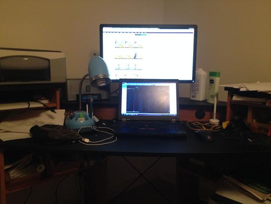 Dell E2414Hr On Desk