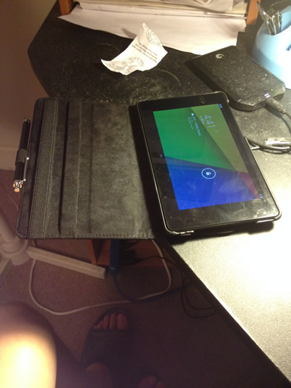 Google Nexus 7 case open