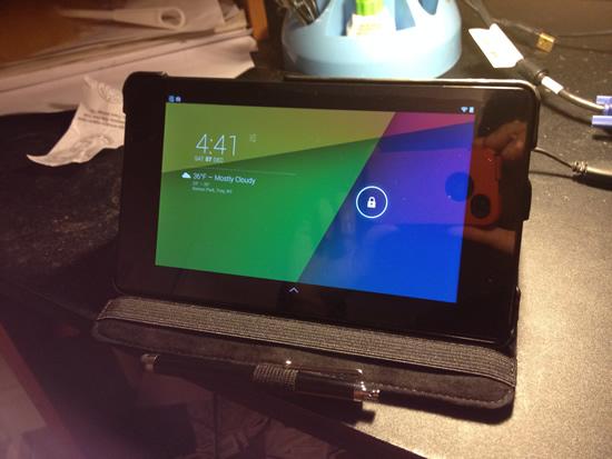 Google Nexus 7 case landscape