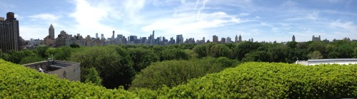 Panorama of the Manhattan skyline from the roof of the Metropolitan