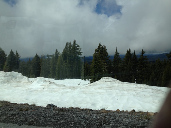 Crater Lake National Park Snow