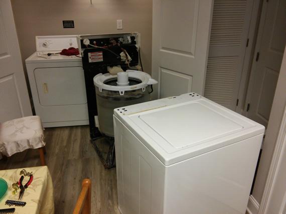 Washing machine disassembled