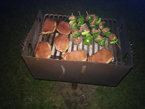 Grilling in the dark