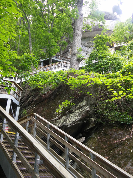 Chimney Rock State Park stairs