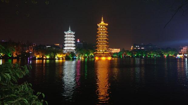 Guilin Sun and Moon Pagodas
