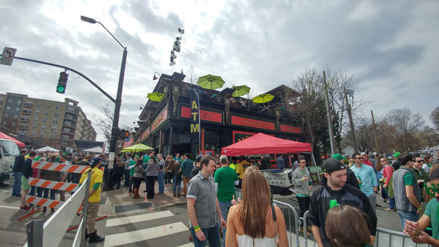 St. Patrick's Day bar crawl Raleigh