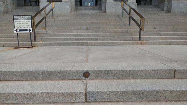 Colorado State Capitol mile marker