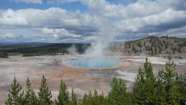 Grand Prismatic Spring from above