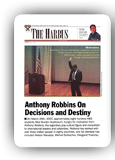 The Harbus: A Harvard Business School Magazine Tony Robbins Biography