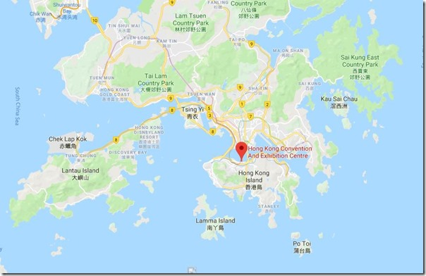 Hong Kong Convention and Exhibition Centre map