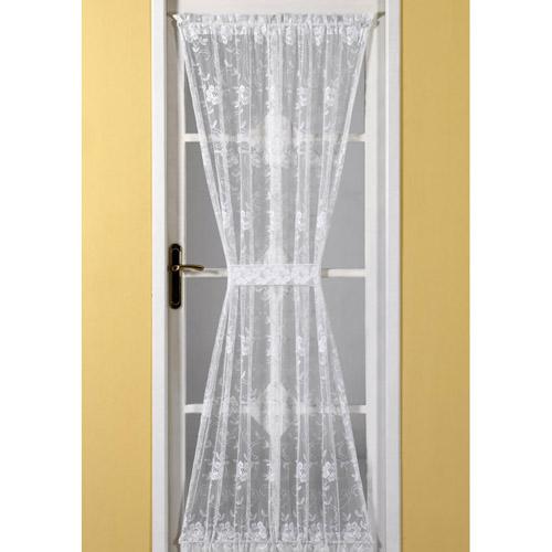 Emma Door Net Curtain White Tonys Textiles