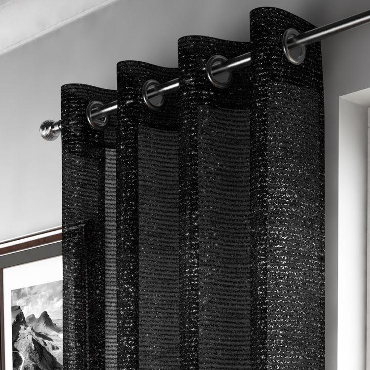 Black Sparkle Curtain Panel Tonys Textiles