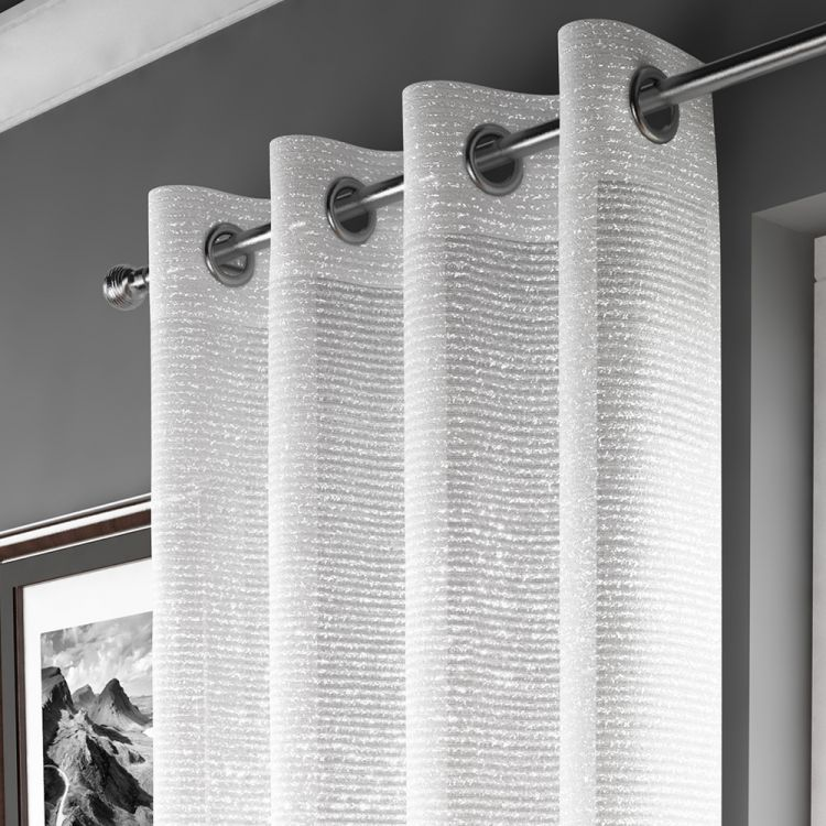 White Sparkle Curtain Panel Tonys Textiles