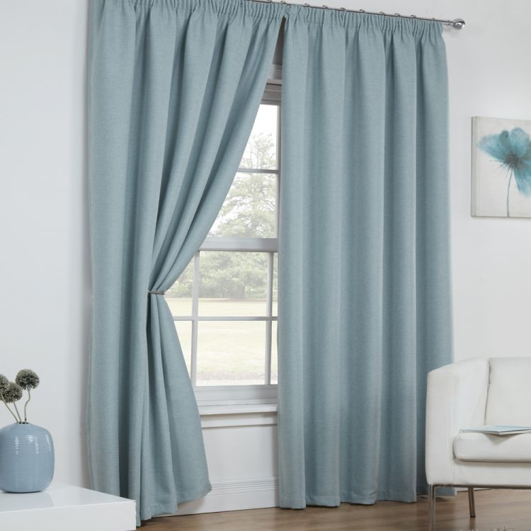 Linen Look Textured Blockout Thermal Tape Top Curtains Tonys Textiles