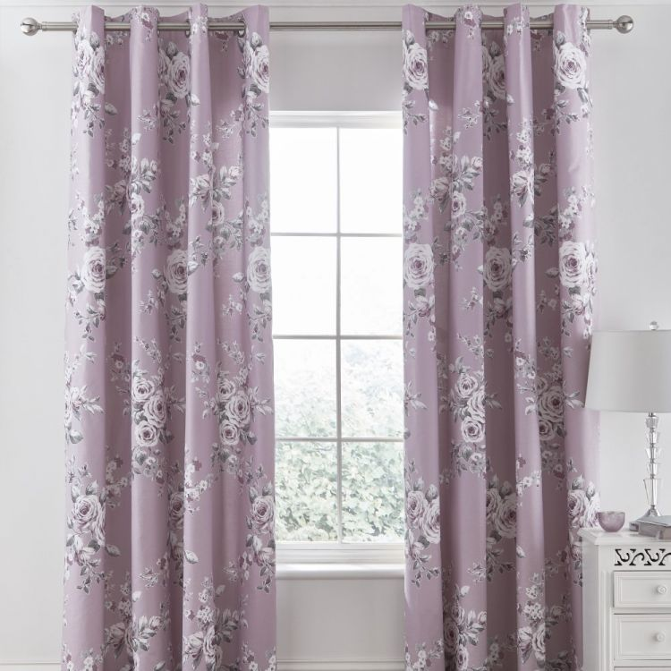 Catherine Lansfield Canterbury Eyelet Curtains