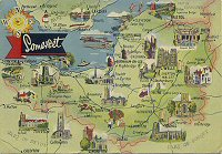 Map Postcards Uk South West Picture Galleries