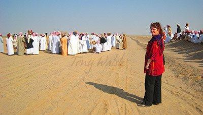 Tonny at a Camel Race