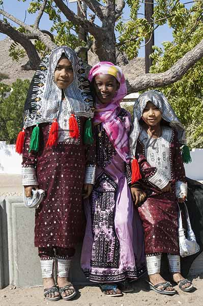 Girls in Traditional Omani Dress