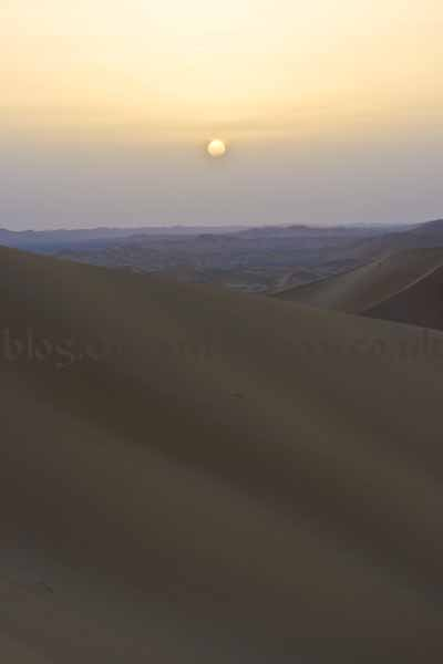 Sunset in the Rub Al Khali