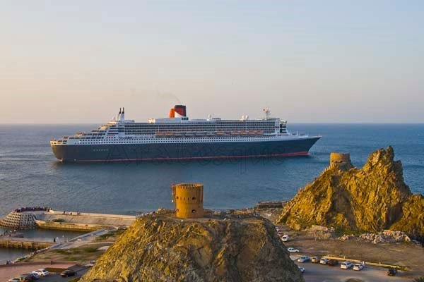 Queen Mary 2 in Muscat