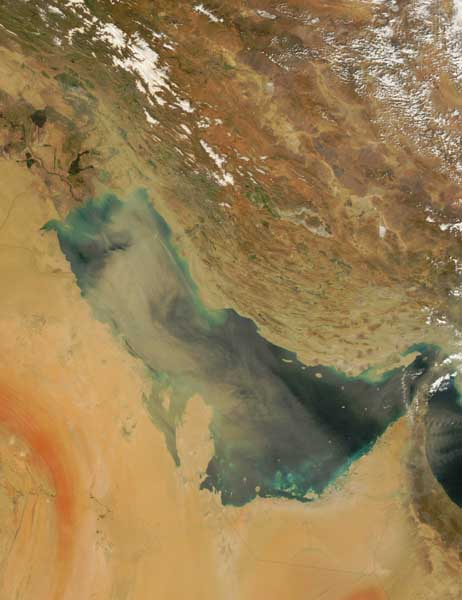 Dust over Arabia