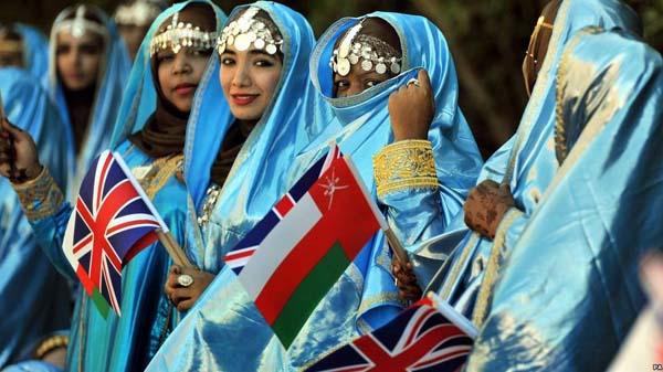 Queen Elizabeth in Oman State Welcome