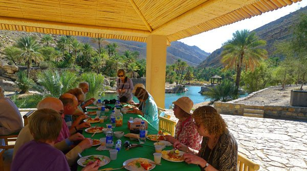 Lunch in an Omani Wadi