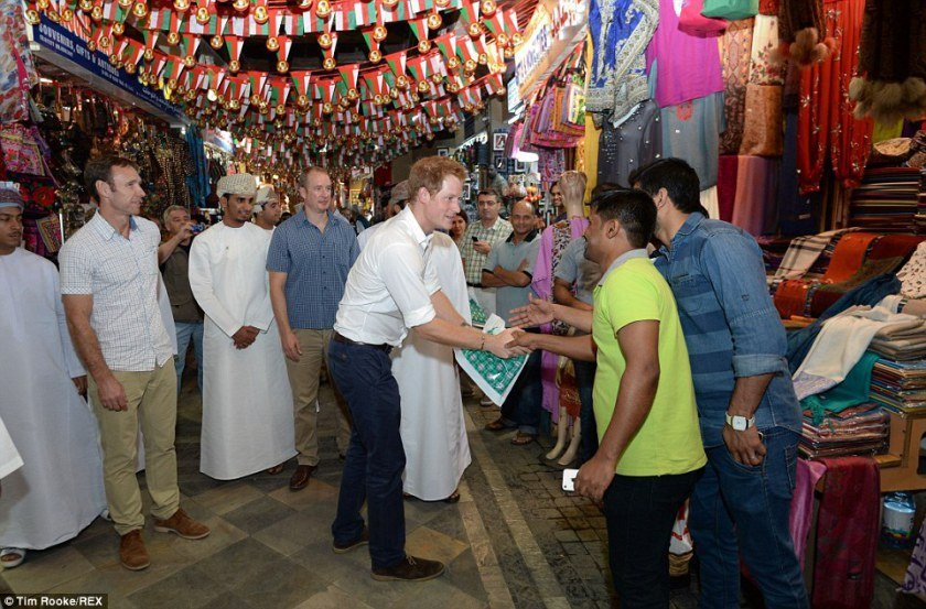 Prince Harry in Mutrah Souq