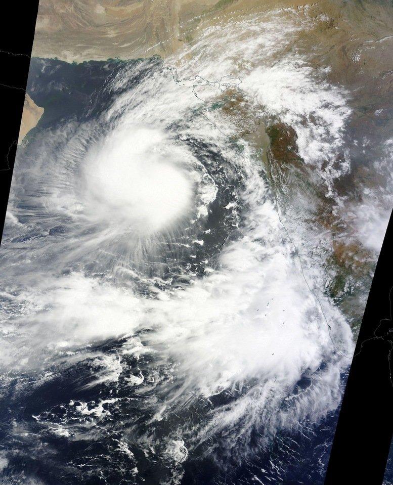 Cyclone Ashobaa off Oman