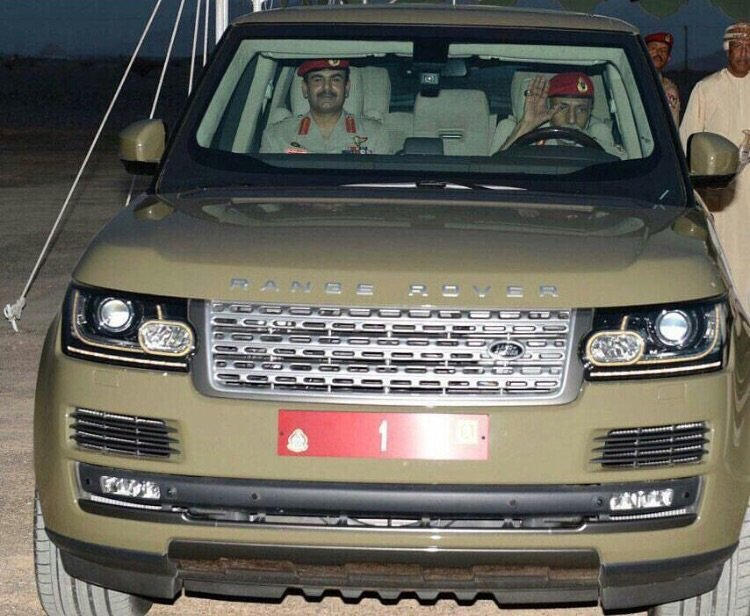 Sultan Qaboos departs from the site for Oman Museum